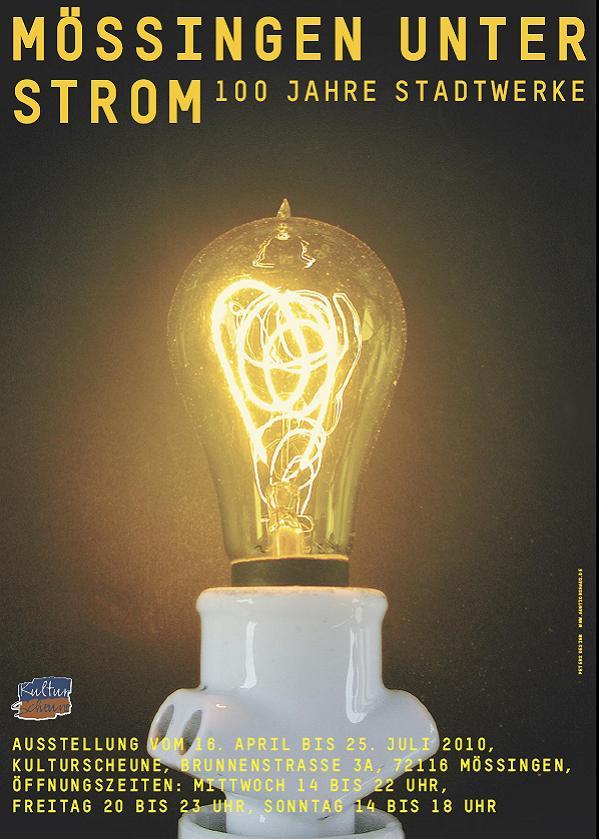 Plakat zur Ausstellung Mössingen unter Strom